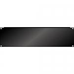 Blindplaat 19 inch 3HE met omgeknikte rand voor extra stevigheid