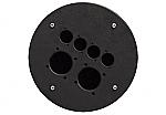 CRP 342 blindplaat met 2x gat voor shuko en 2x D-size hole voor Procab CDM-310