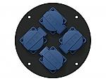 CRP 244G blindplaat met 4 shuko connectoren voor Procab CDM-310