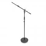 MS2322B hoog microfoonstatief met ronde voet en 2-delige hengel