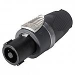 NL 4 FX SOM speakon luidsprekerplug 4-polig met transparante ring