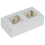 WB45D/W muur montagebox voor 2x insert, kleur wit