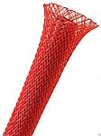 Flexo Pet sleeving 6,4 mm rood