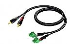 CLA832/0.5 Verloopkabel 2x RCA naar 2x phoenix terminalblock, 0,5m