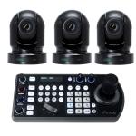 PROMO met 3x P200B camera en 1x Keyboard Controller