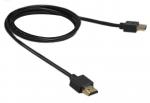 High Speed Ultraslim 4K HDMI-kabel verguld met ethernet - 1,0m
