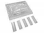 Transparante Krimpkous 9,5-5,0mm lengte 5cm, 50 stuks