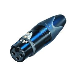 NC 3 FXX BAG XLR kabeldeel female zwart 3p