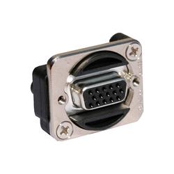 EHHD 15 FF VGA chassisdeel doorvoer blank