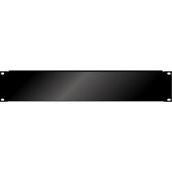 Blindplaat 19 inch 2HE met omgeknikte rand voor extra stevigheid