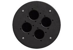 CRP 340 blindplaat met 4x gat voor shuko connector voor Procab CDM-310