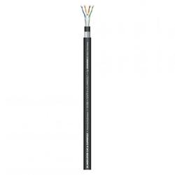 CAT6a SFTP kabel 10 Gbit heavy duty met dubbele afscherming en purmantel, knip p/m