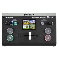 Mini videomixer 4-kanaals incl. multiview, scalers en USB-streaming