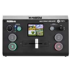 Mini+ videomixer 4-kanaals incl. multiview, scalers en USB-streaming