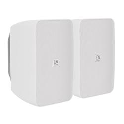 Ares 5a wit - set van 2 luidsprekers (1x actief, 1x passief) 2x20W
